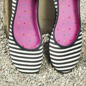 Ballerina med striber fra ShoeShoe