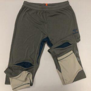 hummel bukser grå med beige