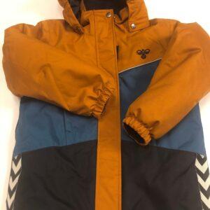 hummel jakke brun lyseblå mørkeblå