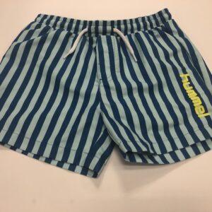 hummel shorts blå med striber
