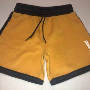 hummel shorts orange med sort kant