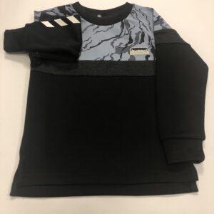 hummel trøje sort med mønster