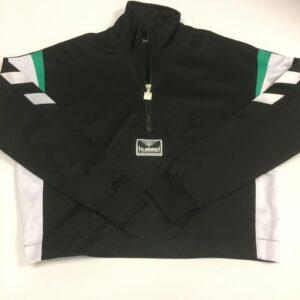 hummel dame jakke sort med halv zip