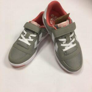 hummel sko grå med pink str. 33