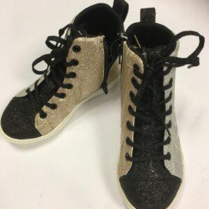 hummel sko sort guld sølv glimmer str. 33