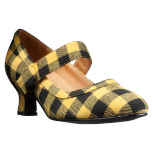Gule håndsyede designersko fra Women Power Shoes