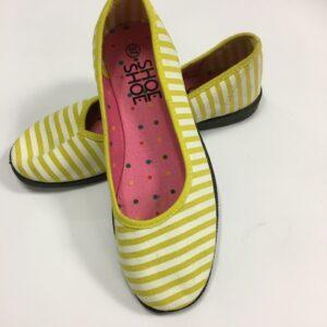 Ballerina med gule striber fra ShoeShoe