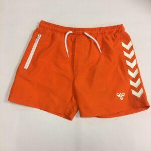 Orange shorts med hvide striber til drenge fra hummel