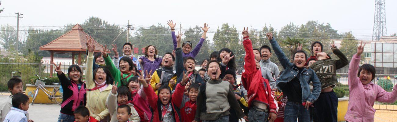 Xian Kids jumping